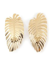 DSquared² | Metallic Palm Leaf Earrings | Lyst
