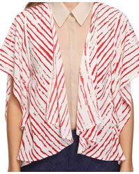 Forever 21 | Natural Ketched Stripes Cardigan | Lyst