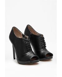 French Connection - Black Victoria Open Toe Ankle Boots - Lyst