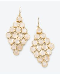 Ann Taylor | Metallic Mother Of Pearl Dot Chandelier Earrings | Lyst