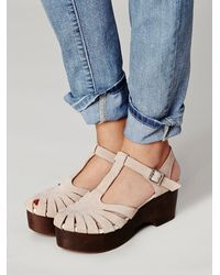 Free People | Natural Mads Clog | Lyst