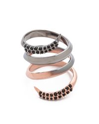 Katie Rowland | Multicolor Twisted Ring | Lyst