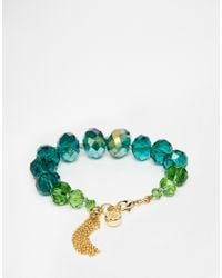 Ted Baker | Blue Single Strand Bead Bracelet | Lyst