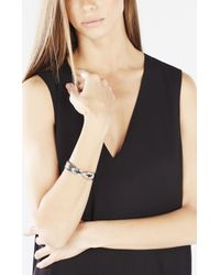 BCBGMAXAZRIA | Black Faux-leather Knot Cuff | Lyst