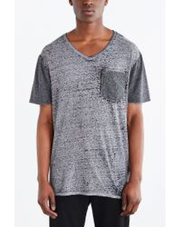 BDG | Gray Burnout Standard-fit V-neck Tee for Men | Lyst