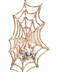 Bernard Delettrez | Metallic Spider Web Earrings | Lyst