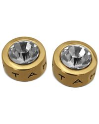 T Tahari - Metallic Earrings, 14k Gold-plated Crystal Stud Earrings - Lyst