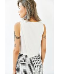 Lucca Couture | White Clean Crossover Tank Top | Lyst
