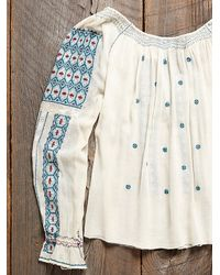 Free People - Natural Womens Vintage Hungarian Peasant Blouse - Lyst