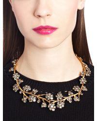 Oscar de la Renta   Black Swarovski Crystal Branch Necklace   Lyst