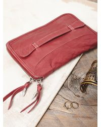 Free People - Purple Distressed Travel Wallet - Lyst