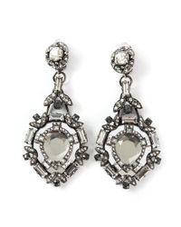 Lanvin | Gray Embellished Clip-on Earrings | Lyst