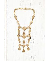 Free People - Metallic Vintage Gold Ladder Necklace - Lyst