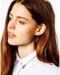 ASOS - Metallic Sterling Silver Star Earrings - Lyst