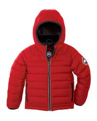 Canada Goose - Pink Bobcat Hooded Quilted Coat - Lyst