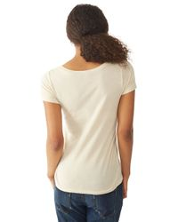 Alternative Apparel - Natural Organic Cotton Scoop Neck T-shirt - Lyst