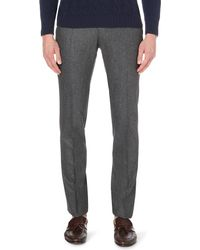 Slowear | Gray Slim-fit Tapered Wool Trousers for Men | Lyst