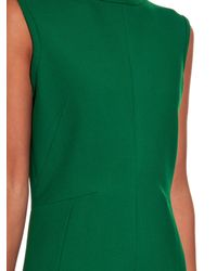 Jil Sander - Green Vernissage Sleeveless Wool Dress - Lyst