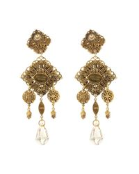 Erickson Beamon - Metallic Marchesa Crystal & Gold-Plated Earrings - Lyst