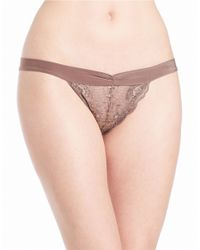 Free People | Brown Lace Bikini Panties | Lyst