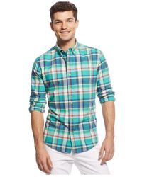 Tommy Hilfiger - Blue Big And Tall Rojas Plaid Shirt for Men - Lyst