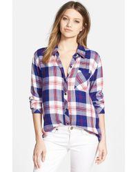 Rails - Blue 'Hunter' Plaid Shirt - Lyst