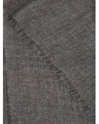 Vince - Gray Fringed Scarf - Lyst