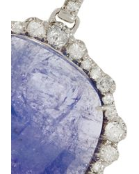 Kimberly Mcdonald Blue 18karat White Gold Tanzanite and Diamond Earrings