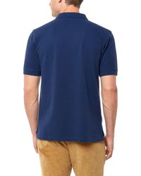 Jaeger | Blue Cotton-piqué Polo Shirt for Men | Lyst