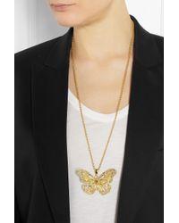 Alexander McQueen - Metallic Fishtail Pendant Necklace - Lyst
