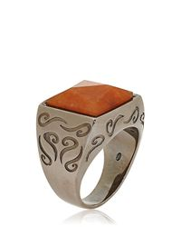 Marco Ta Moko | Orange Aventurine Ring | Lyst