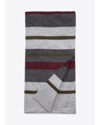 VINCE | Gray Wool Striped Blanket Scarf for Men | Lyst