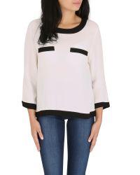 Cutie | Black Monochrome Long Sleeve Top | Lyst