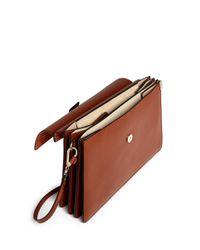 Chloé Brown 'faye' Medium Accordion Leather Combo Bag