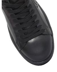 KENZO | Black Logo Leather Sneakers | Lyst
