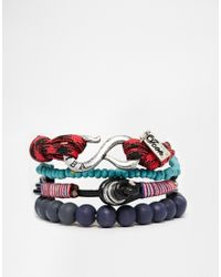 Icon Brand - Blue Blackmail Climbing Rope Bracelet Pack for Men - Lyst