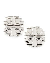 Tory Burch | Metallic Small T-logo Stud Earrings | Lyst