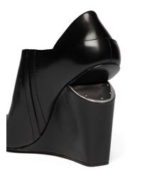Alexander Wang - Black 'alla' Cutout Wedge Sandals - Lyst