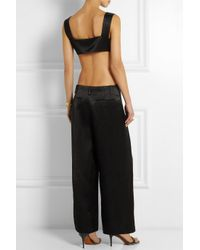 Sonia Rykiel - Black Backless Hammered-Satin Jumpsuit - Lyst