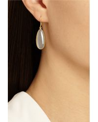 Pippa Small | Gray 18karat Gold Moonstone Earrings | Lyst