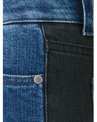 Stella McCartney - Blue Contrasted Back Skinny Jeans - Lyst
