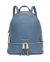 MICHAEL Michael Kors | Blue Rhea Small Leather Backpack | Lyst