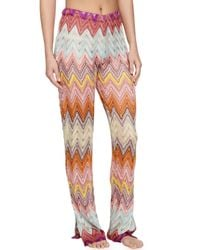 Missoni - Multicolor Zigzag Knit Pull-on Coverup Pants - Lyst