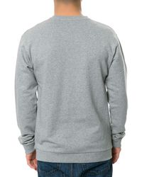 4f0bd9eb7a04 Lyst - Wesc The Flow Script Crewneck Sweatshirt in Gray for Men