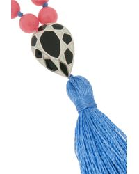 Iam By Ileana Makri - Blue Kompoloi Beaded Tassel Necklace - Lyst