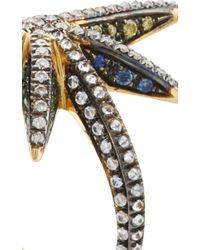 Venyx - Multicolor Yellow Gold Star Ring - Lyst