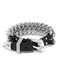 Ambush   Metallic Silver Buckle Chain Bracelet for Men   Lyst