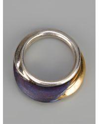 Uzerai Edits | Metallic Titanium Ring | Lyst