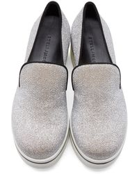 Stella McCartney | Silver Metallic Platform Sneakers | Lyst