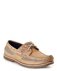 Timberland | Brown Light Taupe Kiaway Bay Boat Shoes for Men | Lyst